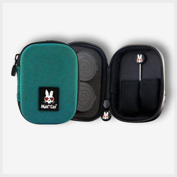 Mad Toto - Teal Case - 420 Stash Kit / Pipe Case